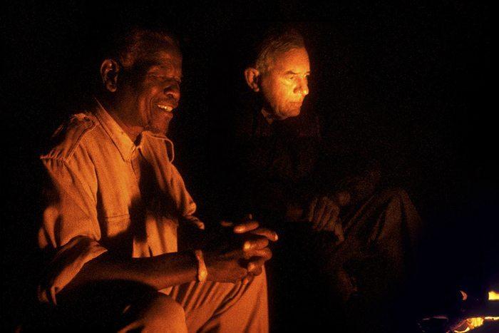 Ian & Magqubu by campfire
